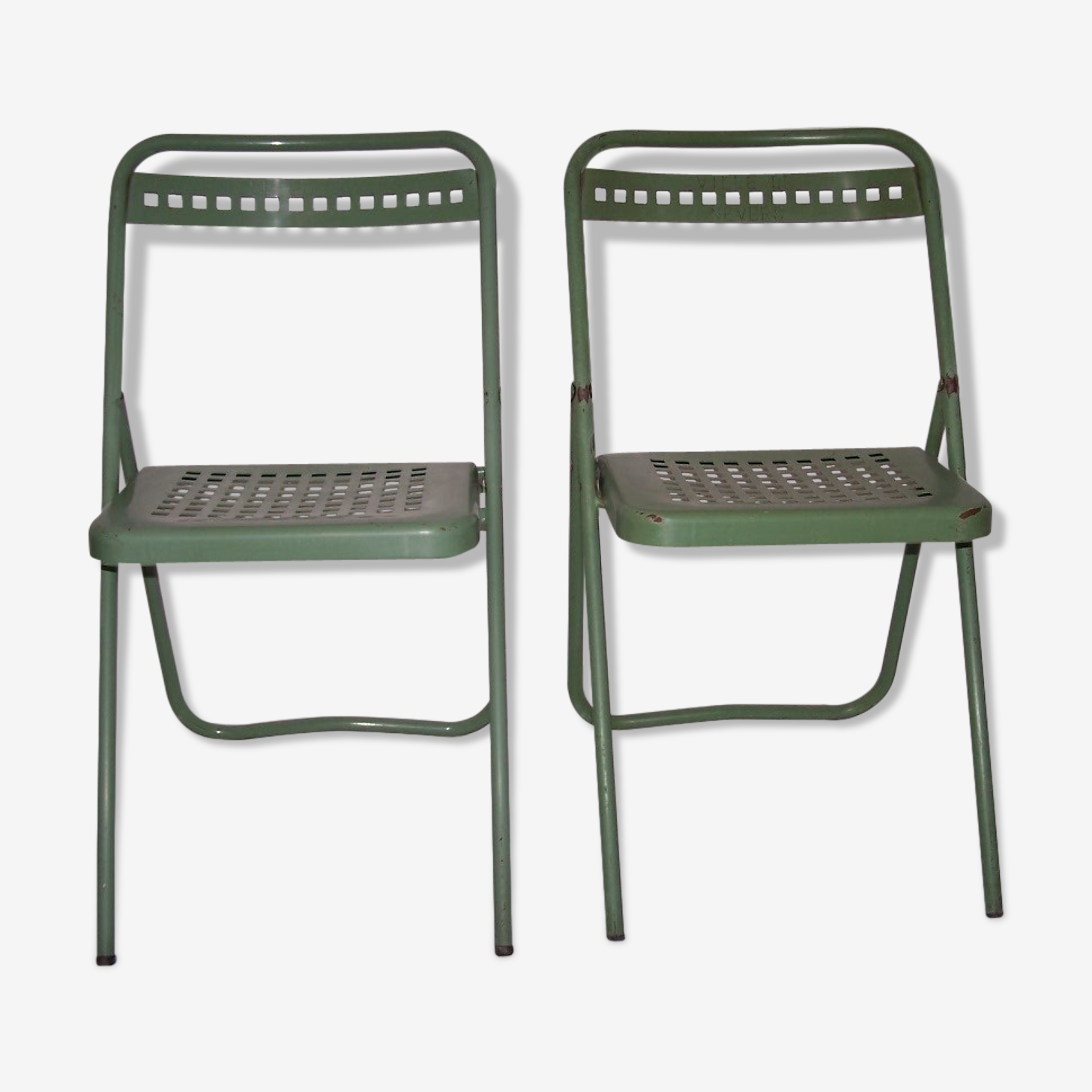 Pair of chairs folding 50 years