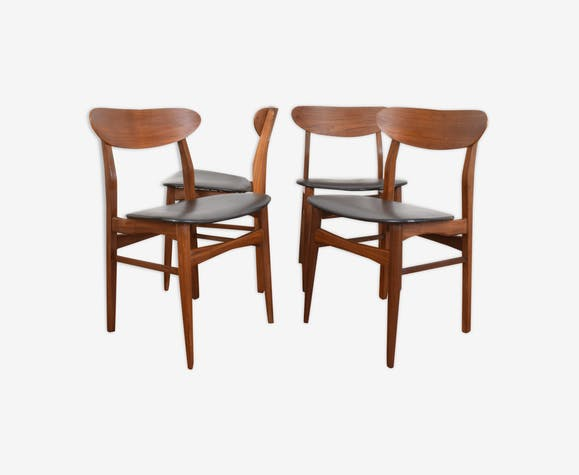 Danish Teak Dining Chairs 1960 Selency
