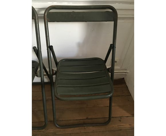 Military set of 4 folding chairs