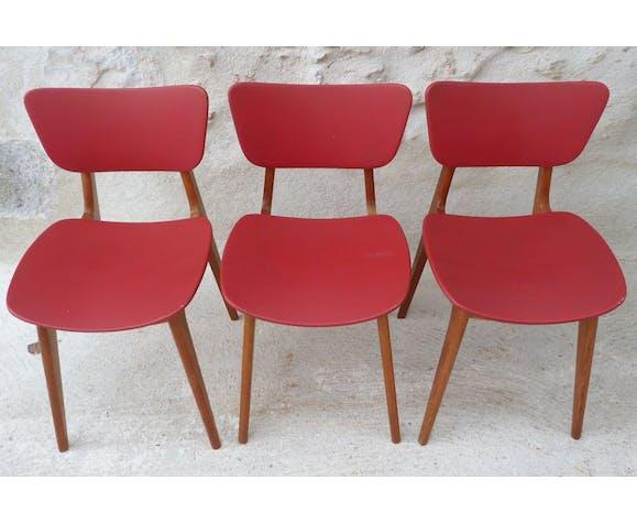 Set de 3 chaises vintage