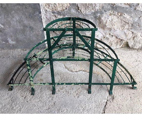 Porte-plante métallique demi-lune ancien