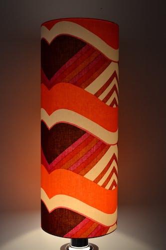 Abat-jour cylindrique tissu vintage Larissa