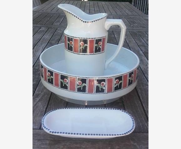 Ensemble de toilette Saint Amand N°951 décor floral - ceramics ...