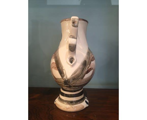 Pichet en céramique Vallauris, années 60