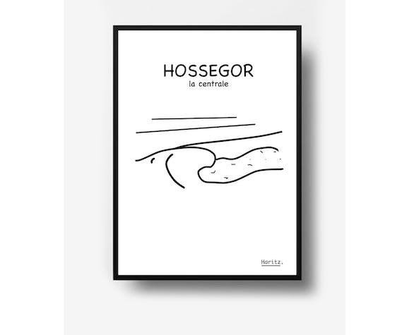 """Illustration, """"Hossegor"""""""