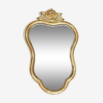 Gold mirror Vintage Belgium former, mold 60 s 53x33cm