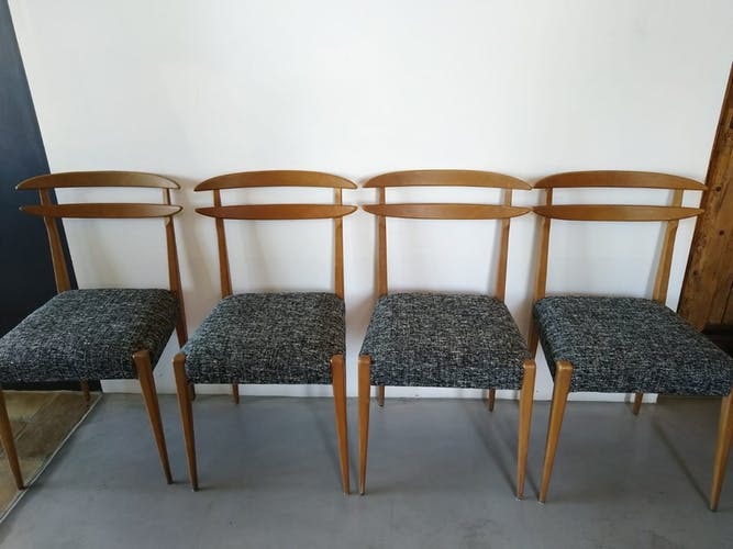 Set de 4 chaises de style scandinave