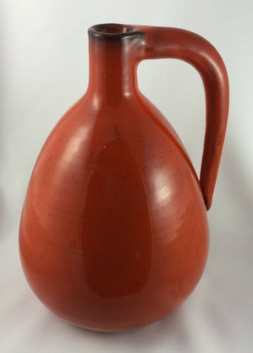Vase gourde in ceramic by Gerard Hofmann with anse 1970 signe