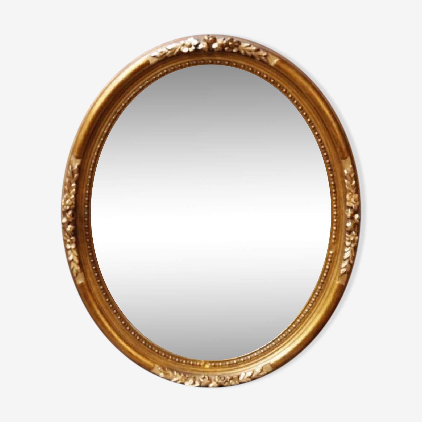 Miroir bois baguette 58x48 cm