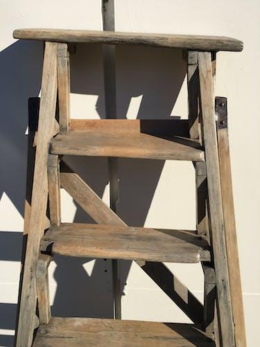 Escabeau bois de peintre 1900 echelle