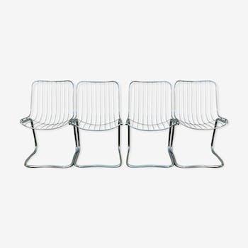 Rinaldi chrome metal chairs