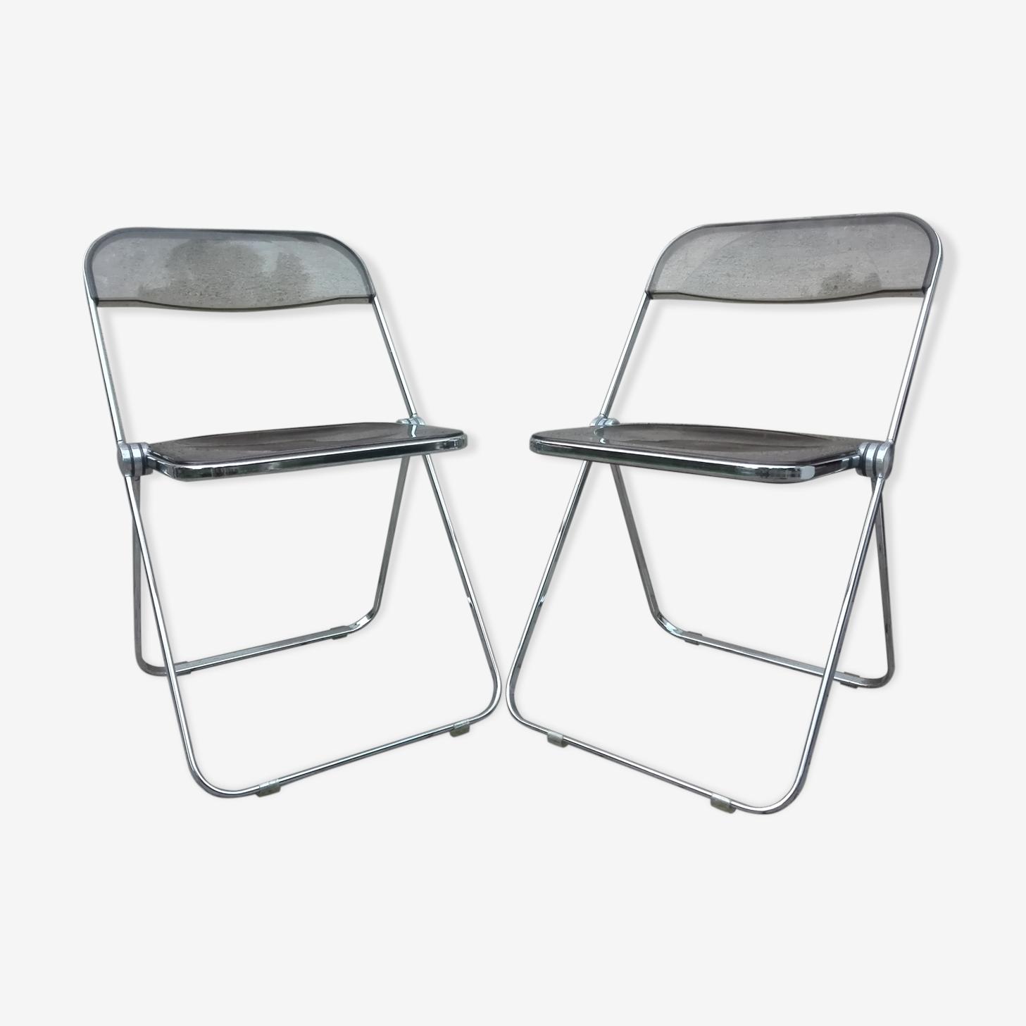 Paire de chaises Plia par Piretti