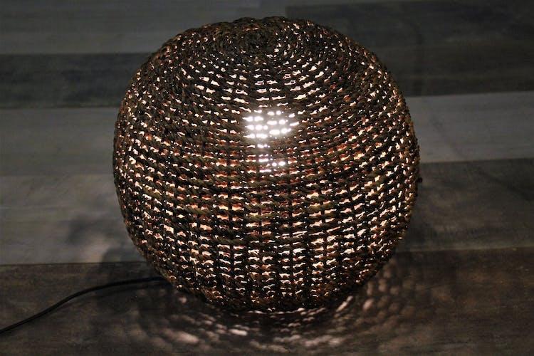 """Lampe corde """"boule"""" années 70"""