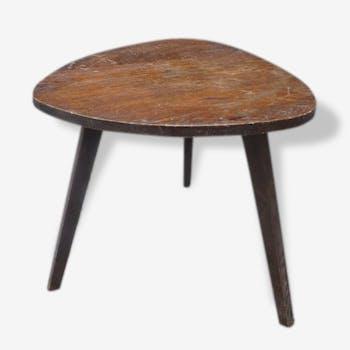 Table d'appoint  tripode des années 50 en bois