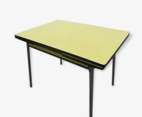 Table En Formica Jaune Formica Yellow Vintage 131493