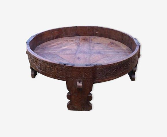 super populaire 117bb 4b1fb Table basse ronde de salon en teck - bois (Matériau) - bois ...