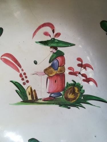 Coupelle en faience décor chinois