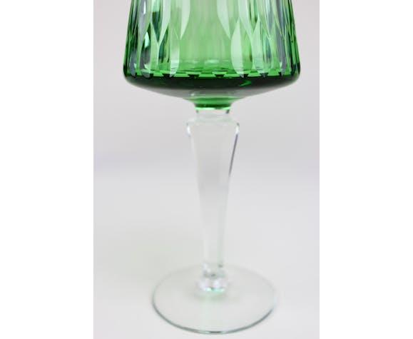 Set of 6 Bohemian crystal wine glasses