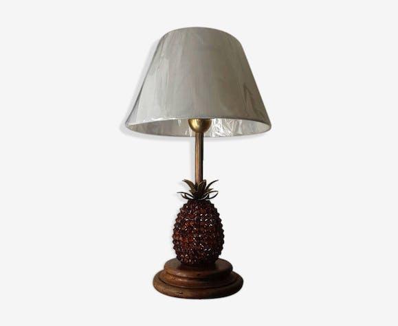 Lampe Ananas Metal Golden Vintage Thgfozj