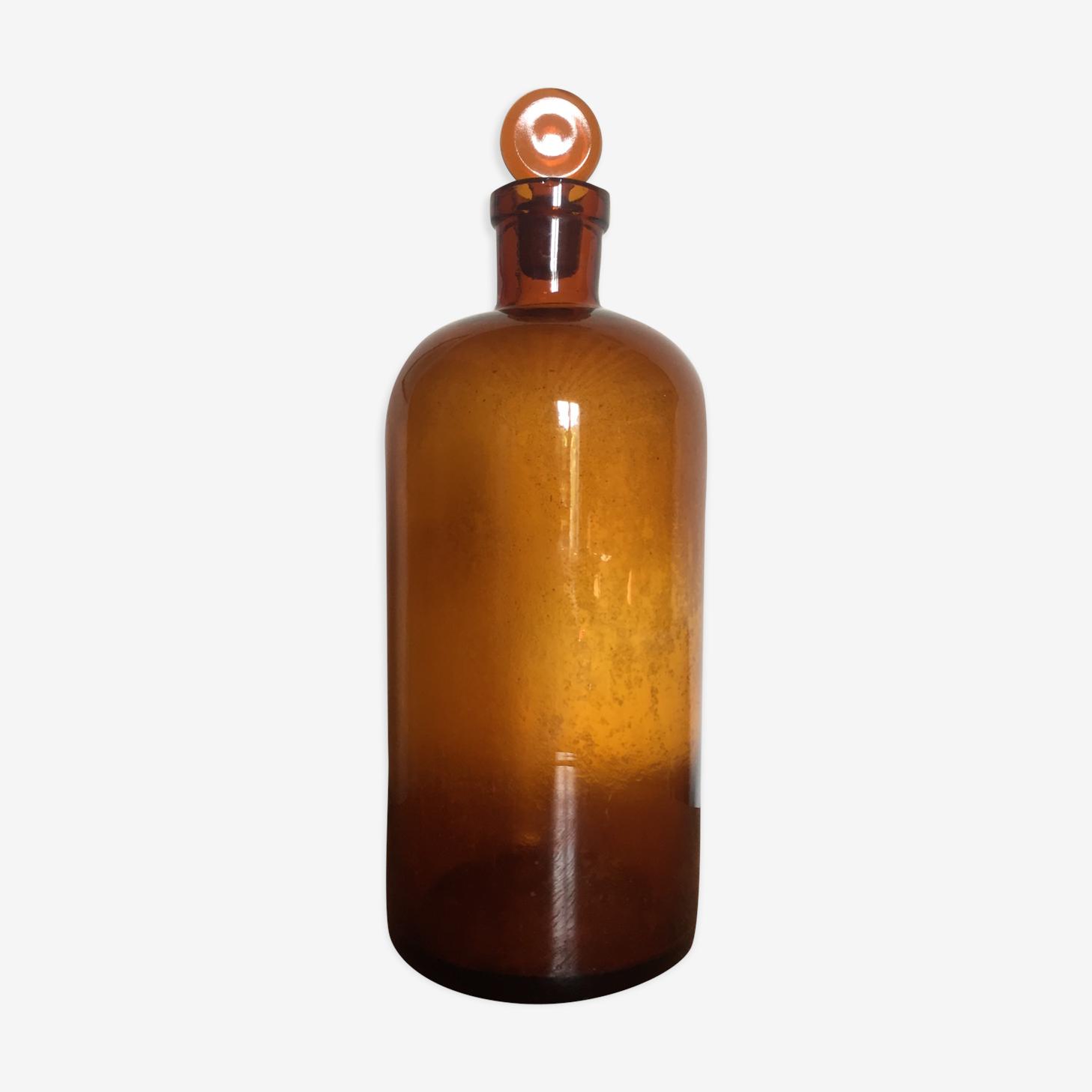 Flacon d'apothicaire verre ambré