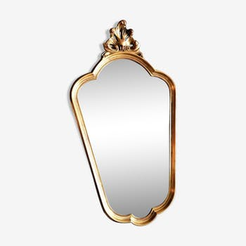 Rococo mirror baroque rococo gilded stucco style Louis XV 65x36cm