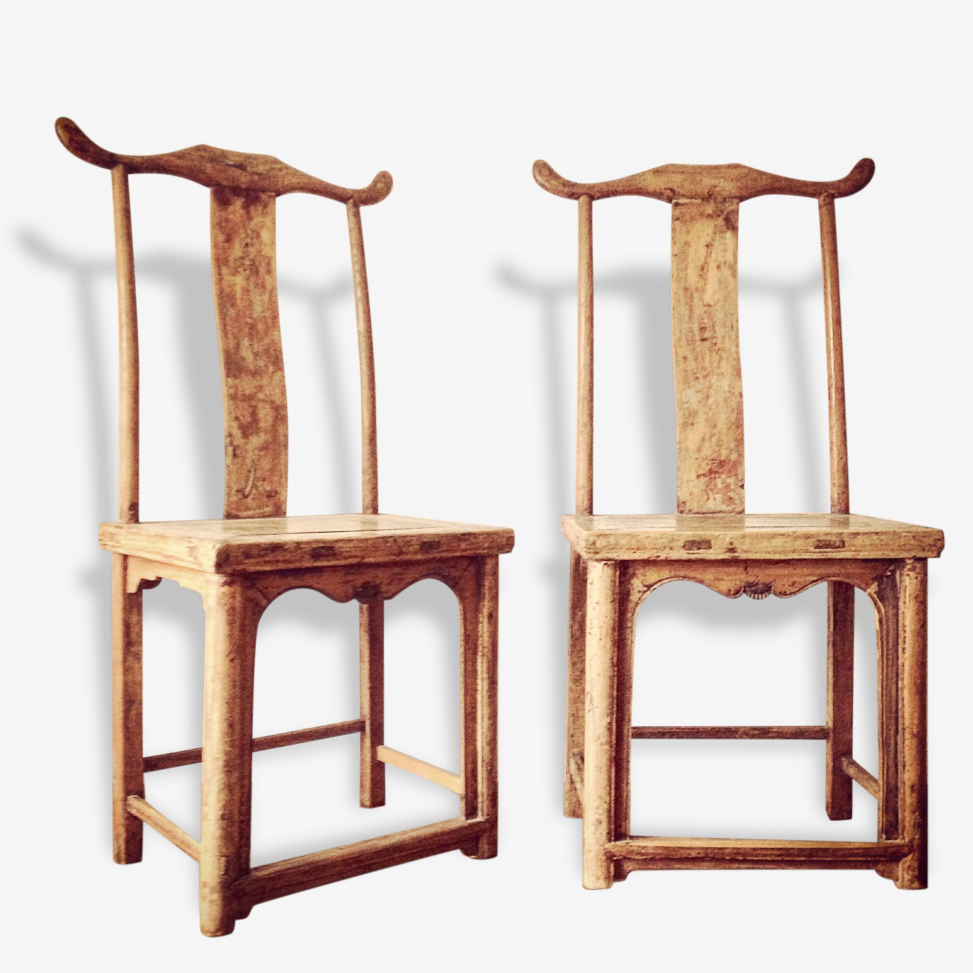Une paire de chaises chinoises XVIII ème