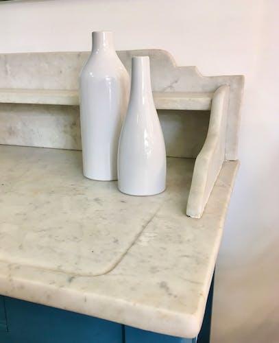 Vase blanc pure