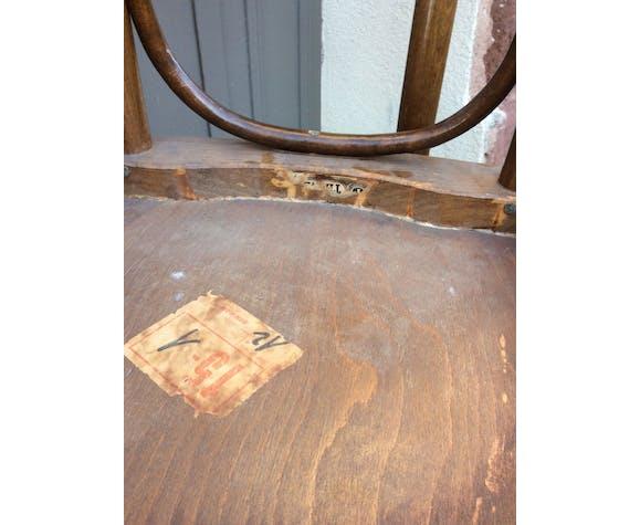 Paire de chaises bistrot vintage brasserie no bentwood chair shabby chic baumann thonet