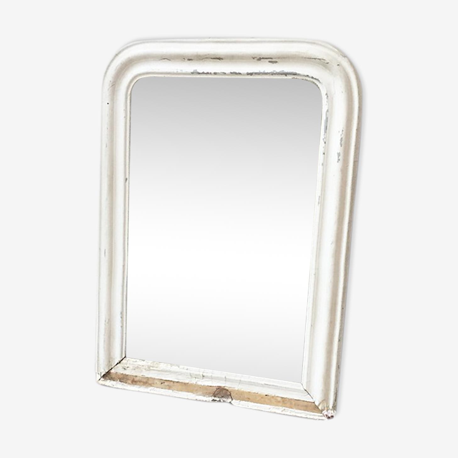 Miroir Napoléon blanc 55 x 75 cm