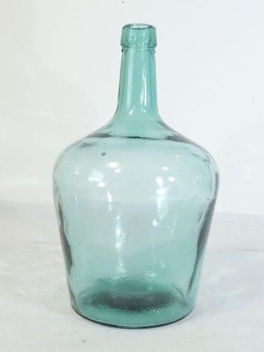 Bonbonne dame jeanne en verre soufflé bullé 2 litres nº1