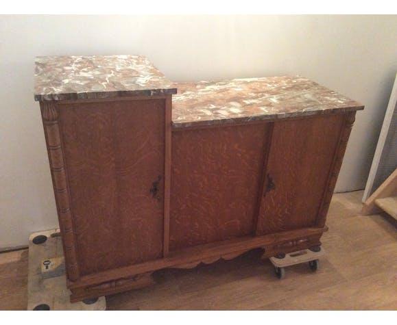 Buffet Art déco en bois et marbre