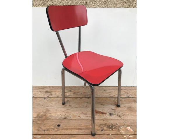 Paire de chaises anciennes cuisine formica | Selency