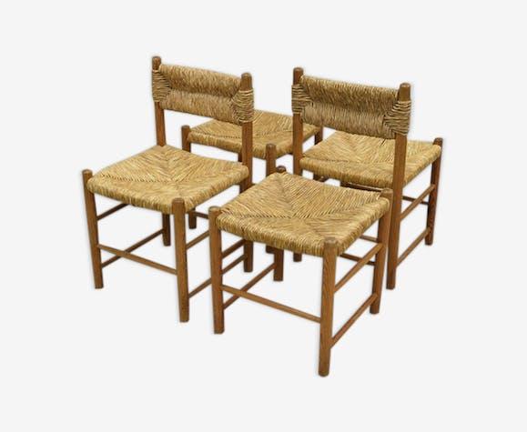 Set de chaises et tabourets modèle Dordogne, édités par Sentou
