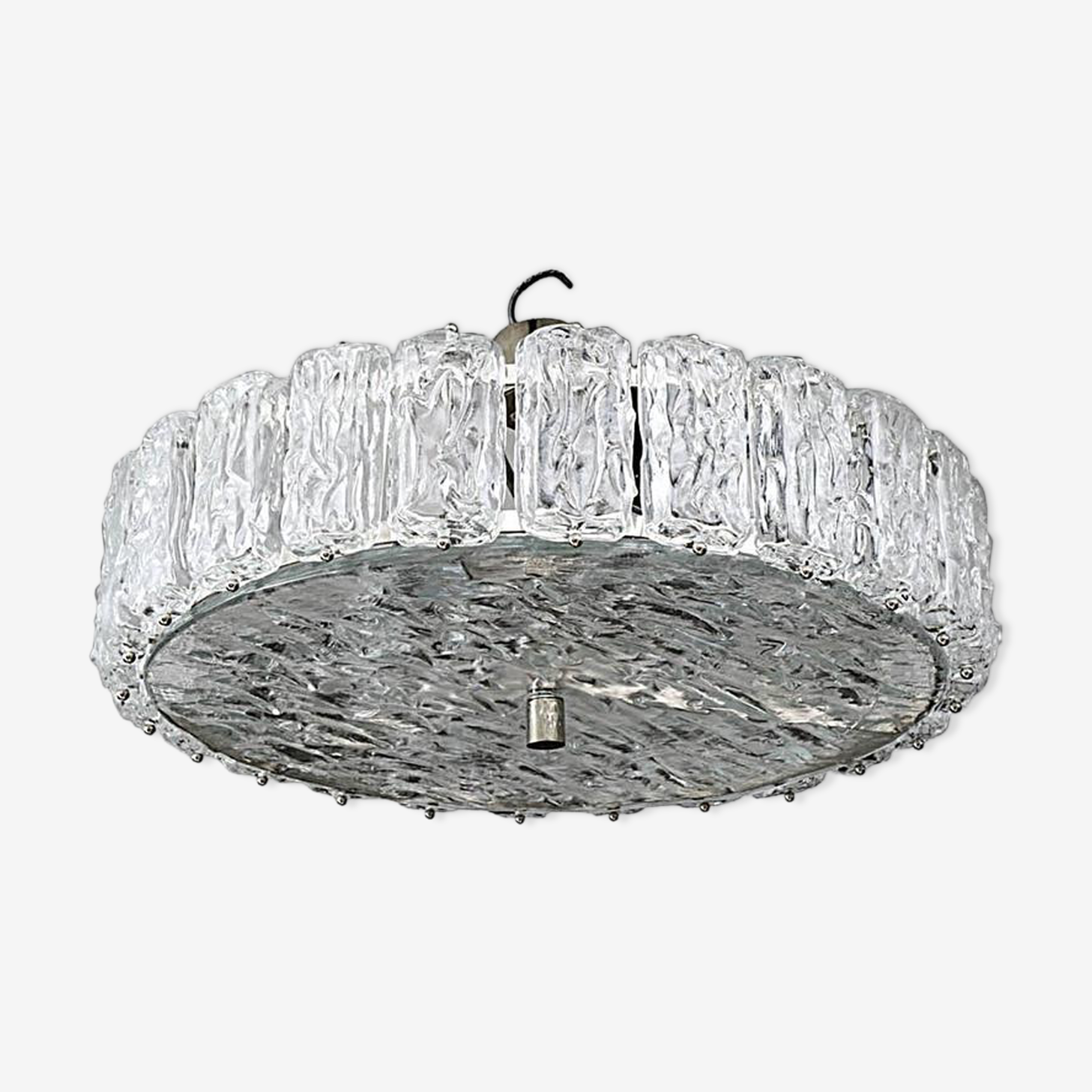 Frosted in Murano glass chandelier