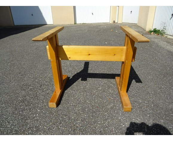 """Solid pine table """"Les Arcs 1600 """" Charlotte Perriand"""