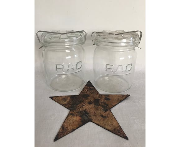 Pair Of Rac Jars 3 4 Litre Selency
