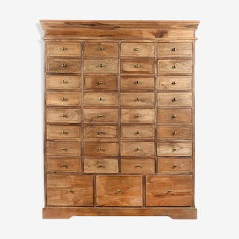 35 drawer wooden cabinet