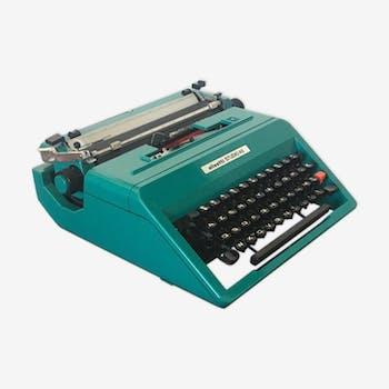 Machine à écrire Olivetti bleu canard Studio 45