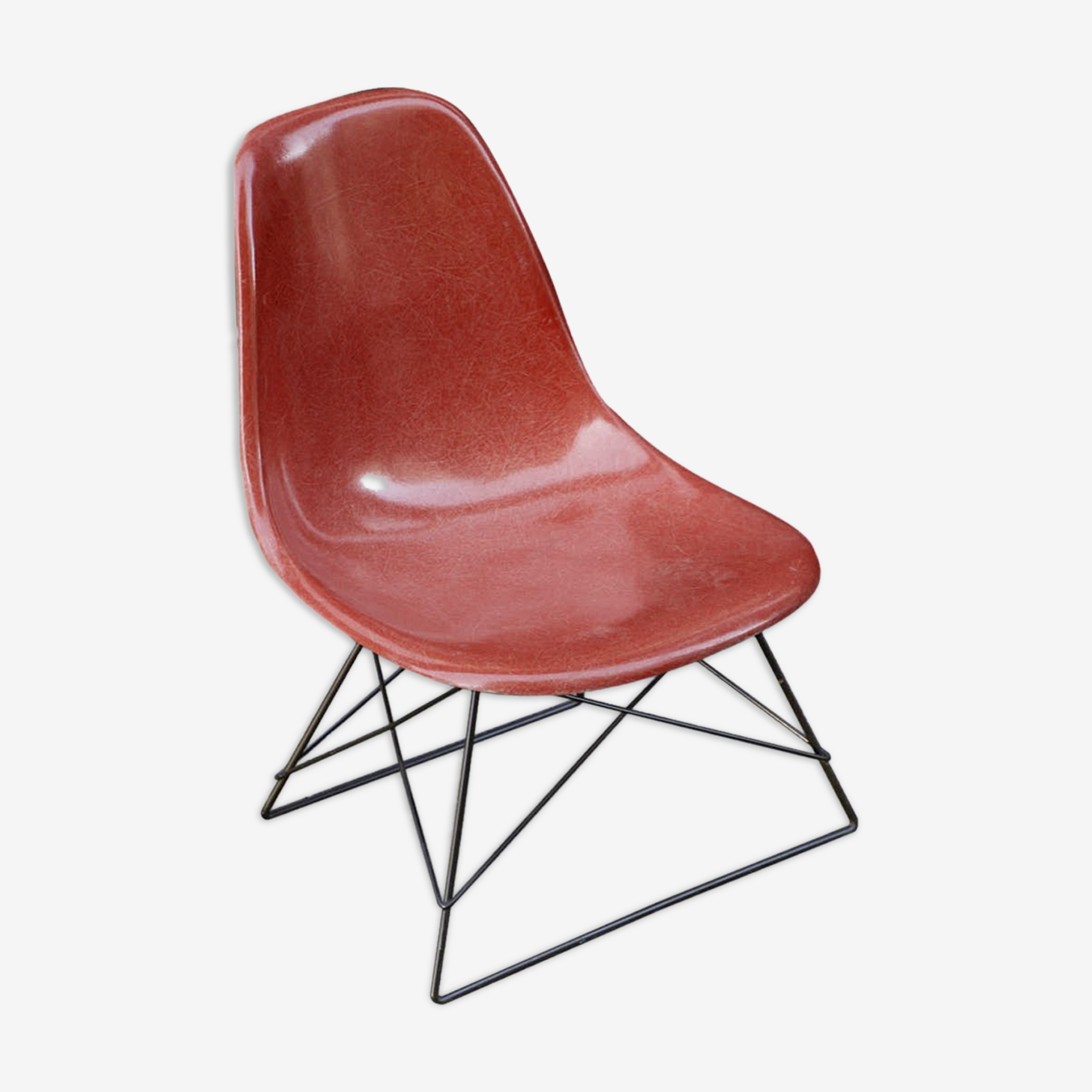 Chair Low Rod Base cats cradle Eames vintage Herman Miller original