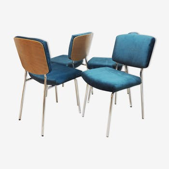 Set of 4 chairs Velvet