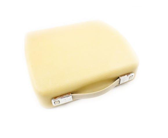 Machine à écrire Olympia Splendid 66 beige vintage révisée avec ruban neuf