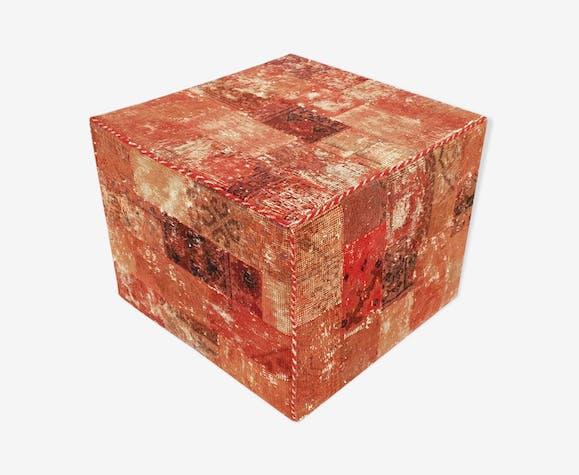 Red pouf 50 cm