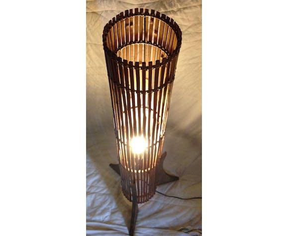 Lampadaire en bois 1950