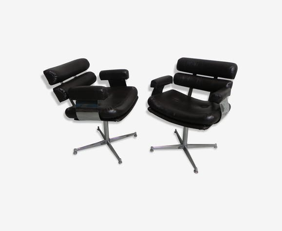 2 vintage armchairs from hair salon