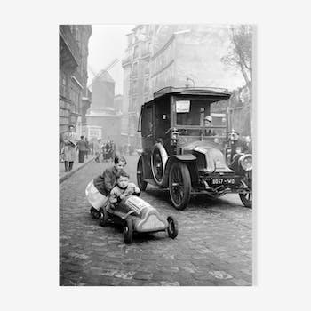 """Photographie """"course au ralenti de Montmartre"""""""