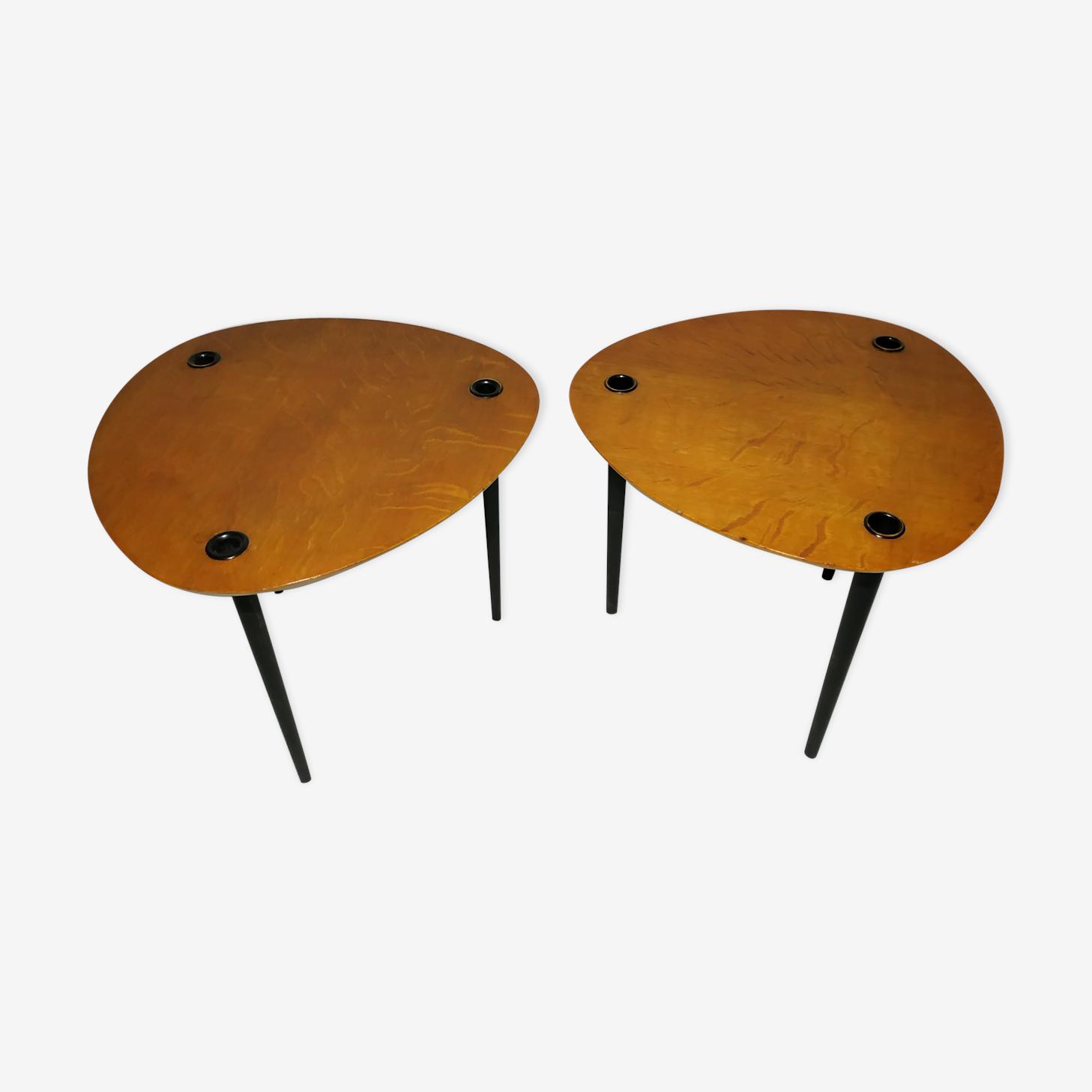 """Tables gigognes """"Partroy"""" de Pierre Cruege 1950"""