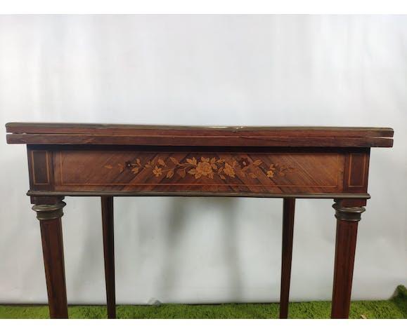 Table de jeu Louis XVI