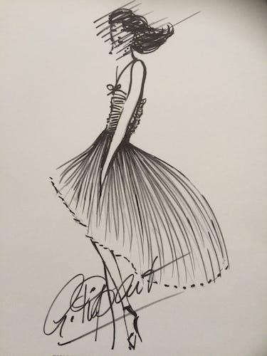Fashion illustration Nina Ricci of the 90s