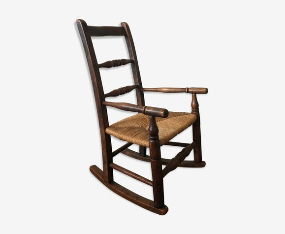 Vintage Children's Oak Rocking Chair