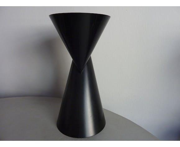 Vase vintage Noir graphique Paul Baars années 1990